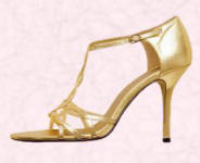 Gold strappy sandal by Matalan �14